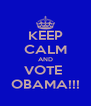 KEEP CALM AND VOTE  OBAMA!!! - Personalised Poster A4 size