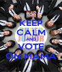 KEEP CALM AND VOTE ON MAMA - Personalised Poster A4 size