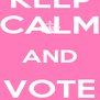KEEP CALM AND VOTE PINK - Personalised Poster A4 size