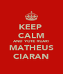 KEEP  CALM AND VOTE RUARI MATHEUS CIARAN - Personalised Poster A4 size