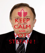 KEEP CALM AND VOTE STEFAN ! - Personalised Poster A4 size