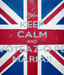 KEEP CALM AND VOTEAZ-O PE MARIA!! - Personalised Poster A4 size