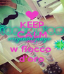 KEEP CALM AND w fiocco  d'oro - Personalised Poster A4 size