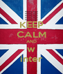 KEEP CALM AND w inter - Personalised Poster A4 size