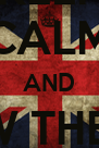 KEEP CALM AND W THE  '98  - Personalised Poster A4 size