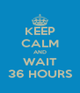 KEEP CALM AND WAIT 36 HOURS - Personalised Poster A4 size