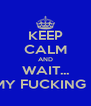 KEEP CALM AND WAIT... DONT ITS MY FUCKING BIRTHDAY! - Personalised Poster A4 size
