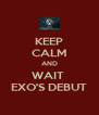 KEEP CALM AND WAIT  EXO'S DEBUT - Personalised Poster A4 size