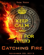 KEEP CALM AND WAIT FOR 21/11/13 - Personalised Poster A4 size
