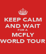 KEEP CALM AND WAIT FOR A MCFLY WORLD TOUR - Personalised Poster A4 size