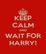KEEP CALM AND WAIT FOR HARRY! - Personalised Poster A4 size