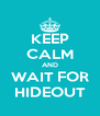 KEEP CALM AND WAIT FOR HIDEOUT - Personalised Poster A4 size