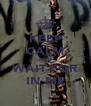 KEEP CALM AND WAIT FOR IN ME - Personalised Poster A4 size