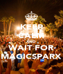 KEEP CALM AND WAIT FOR MAGICSPARX - Personalised Poster A4 size