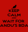 KEEP CALM AND WAIT FOR  MANDU'S BDAY - Personalised Poster A4 size