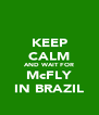 KEEP CALM AND WAIT FOR McFLY IN BRAZIL - Personalised Poster A4 size