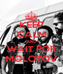 KEEP CALM AND WAIT FOR MOLOTOV - Personalised Poster A4 size