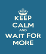 KEEP CALM AND WAIT FOR MORE - Personalised Poster A4 size