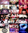 KEEP CALM AND WAIT FOR NCIS  - Personalised Poster A4 size