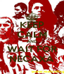 KEEP CALM AND WAIT FOR NECAXA - Personalised Poster A4 size