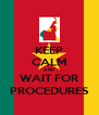 KEEP CALM AND WAIT FOR PROCEDURES - Personalised Poster A4 size
