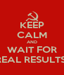 KEEP CALM AND WAIT FOR REAL RESULTS! - Personalised Poster A4 size