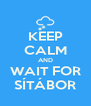 KEEP CALM AND WAIT FOR SÍTÁBOR - Personalised Poster A4 size