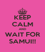 KEEP CALM AND WAIT FOR SAMUI!! - Personalised Poster A4 size