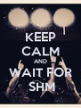 KEEP CALM AND WAIT FOR     SHM    - Personalised Poster A4 size