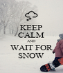 KEEP CALM AND WAIT FOR SNOW - Personalised Poster A4 size