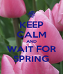 KEEP CALM AND WAIT FOR SPRING - Personalised Poster A4 size