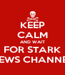 KEEP CALM AND WAIT FOR STARK NEWS CHANNEL - Personalised Poster A4 size