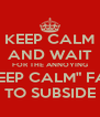 """KEEP CALM AND WAIT FOR THE ANNOYING """"KEEP CALM"""" FAD TO SUBSIDE - Personalised Poster A4 size"""