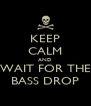 KEEP CALM AND WAIT FOR THE BASS DROP - Personalised Poster A4 size