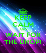 KEEP CALM AND WAIT FOR THE DROP! - Personalised Poster A4 size