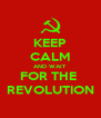KEEP CALM AND WAIT FOR THE  REVOLUTION - Personalised Poster A4 size
