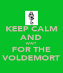 KEEP CALM AND WAIT FOR THE VOLDEMORT - Personalised Poster A4 size