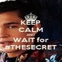 KEEP CALM AND WAIT for #THESECRET - Personalised Poster A4 size