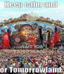 KEEP CALM AND WAIT FOR TOMMOROWLAND 2015 - Personalised Poster A4 size