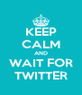 KEEP CALM AND WAIT FOR TWITTER - Personalised Poster A4 size