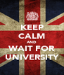KEEP CALM AND WAIT FOR UNIVERSITY - Personalised Poster A4 size