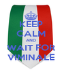 KEEP CALM AND WAIT FOR VIMINALE - Personalised Poster A4 size