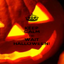 KEEP CALM AND WAIT HALLOWEEN! - Personalised Poster A4 size