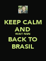 KEEP CALM AND WAIT NSN BACK TO BRASIL - Personalised Poster A4 size