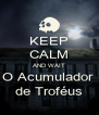 KEEP CALM AND WAIT O Acumulador  de Troféus - Personalised Poster A4 size