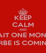 KEEP CALM AND WAIT ONE MONTH [URBE IS COMING] - Personalised Poster A4 size