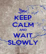 KEEP CALM AND WAIT SLOWLY - Personalised Poster A4 size
