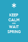 KEEP CALM AND WAIT SPRING - Personalised Poster A4 size