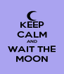 KEEP CALM AND WAIT THE MOON - Personalised Poster A4 size