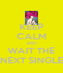 KEEP CALM AND WAIT THE NEXT SINGLE - Personalised Poster A4 size
